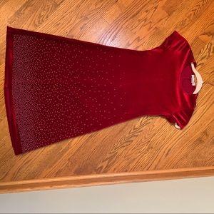 Girls Size 8-My Michelle Red Velvet Dress